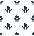 seamless apple on hand pattern education symbol vector image vector image