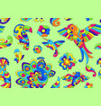 seamless pattern with tropical birds mexican vector image vector image
