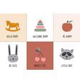 set bohemian baby icons vector image