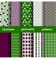 Set of 6 seamless geometric patterns vector image vector image
