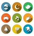 Set of Sleep and Night Rest Icons Man vector image vector image