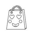 shopping bag emoji icon image vector image