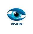 sign in the shape of the eye vector image vector image