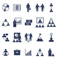 silhouette black business icon set vector image vector image