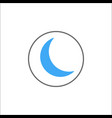 sleep mode solid icon mobile sign and new moon vector image vector image