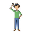smiling man in casual clothes standing vector image vector image