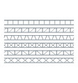 steel truss girder realistic seamless pattern for vector image vector image