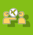 sticker logo xing icon social social media social vector image vector image