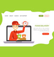 sushi delivery landing page template traditional vector image