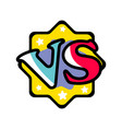 vs versus mark in cartoon style vector image vector image