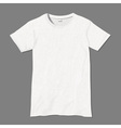 White t shirt design template vector image
