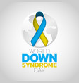 world down syndrome day logo icon design vector image vector image