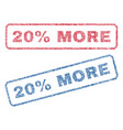 20 percent more textile stamps vector image vector image