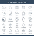 25 nature icons vector image vector image