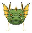a cartoon head dragon mascot vector image vector image