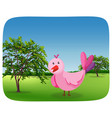 a simple bird in the park vector image vector image
