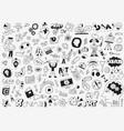 art tools - doodles pencil drawings vector image vector image