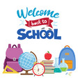 back to school sale vector image vector image