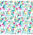 Beautiful seamless floral jungle pattern vector image