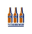 Beer Bottles Star Brewery Retro vector image
