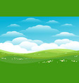 blue skies green hills horizon vector image vector image