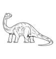 brontosaurus highest dino dinosaur vector image
