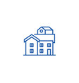 bungalow line icon concept bungalow flat vector image vector image