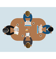 Business meeting brainstorming in flat style vector image vector image
