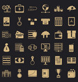 business target icons set simple style vector image vector image