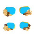 cartoon bakery elements stickers of set vector image