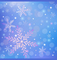 Christmas background with snowflakes and shiny