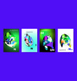colorful abstract liquid and fluid poster and vector image vector image