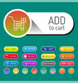 Colorful website online shop web buttons design