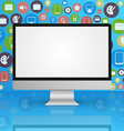 Computer monitor display background vector image