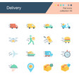 delivery icons flat design collection 49 vector image