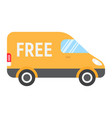 delivery van flat icon logistic and delivery vector image