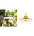 design for cofee shops vector image vector image