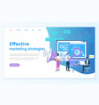 effective marketing strategies web optimization vector image vector image