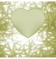 elegant heart frame vector image