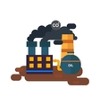 Factory power station flat vector image vector image