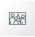 family photo icon line symbol premium quality vector image