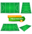 field hockey - four items template vector image vector image