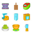 filling icons set cartoon style vector image vector image