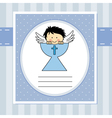 First communion card vector image