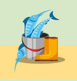 fishing equipment related vector image vector image