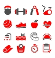 fitness club icons set vector image vector image