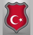 flag of turkey badge and icon vector image vector image