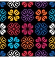 Flowers - seamless pattern vector image