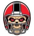 football player skull vector image vector image