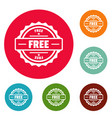 free logo simple style vector image vector image